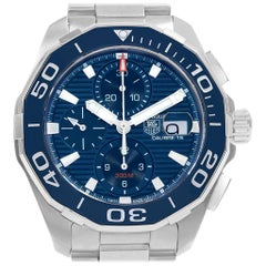 TAG Heuer Aquaracer Blue Dial Chronograph Steel Men's Watch CAY211B
