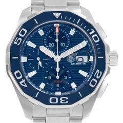 TAG Heuer Aquaracer Blue Dial Chronograph Steel Men's Watch CAY211B