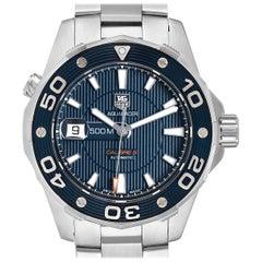 TAG Heuer Aquaracer Blue Dial Steel Men's Watch WAJ2112 Box Card