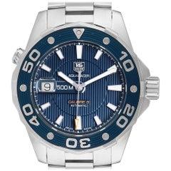 TAG Heuer Aquaracer Blue Dial Steel Men's Watch WAJ2112 Box
