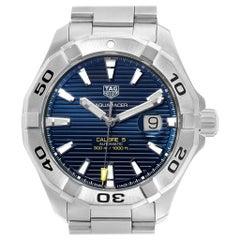 TAG Heuer Aquaracer Blue Dial Steel Men's Watch WAY2012