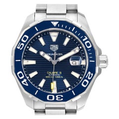 TAG Heuer Aquaracer Blue Dial Steel Men's Watch WAY201B