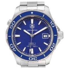 TAG Heuer Aquaracer Calibre 5 500M Blue Dial Steel Men's Watch WAK2111 Box Card