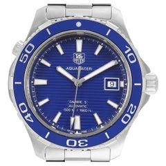 TAG Heuer Aquaracer Calibre 5 500M Blue Dial Steel Men's Watch WAK2111