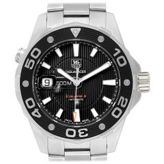TAG Heuer Aquaracer Calibre 5 500M Steel Men's Watch WAJ2110 Box Card