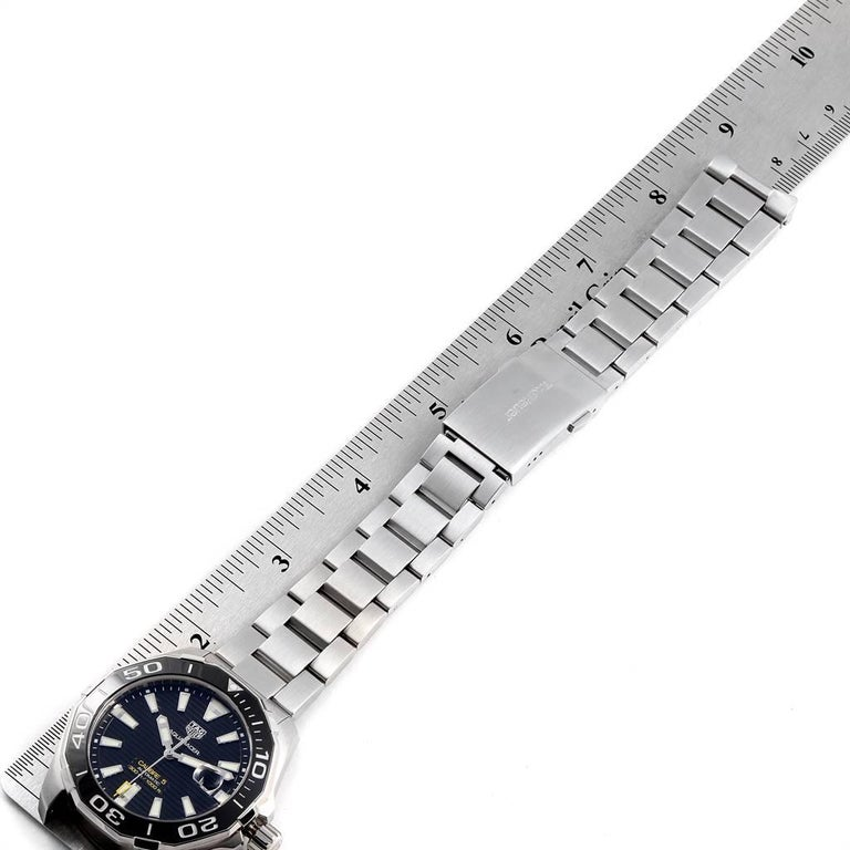 TAG Heuer Aquaracer Calibre 5 Black Dial Steel Men's Watch WAY201A For Sale 5