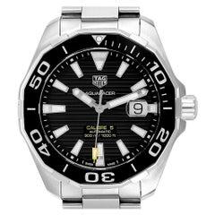 TAG Heuer Aquaracer Calibre 5 Black Dial Steel Men's Watch WAY201A