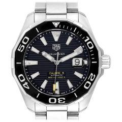 TAG Heuer Aquaracer Calibre 5 Steel Men's Watch WAY201A Box Card