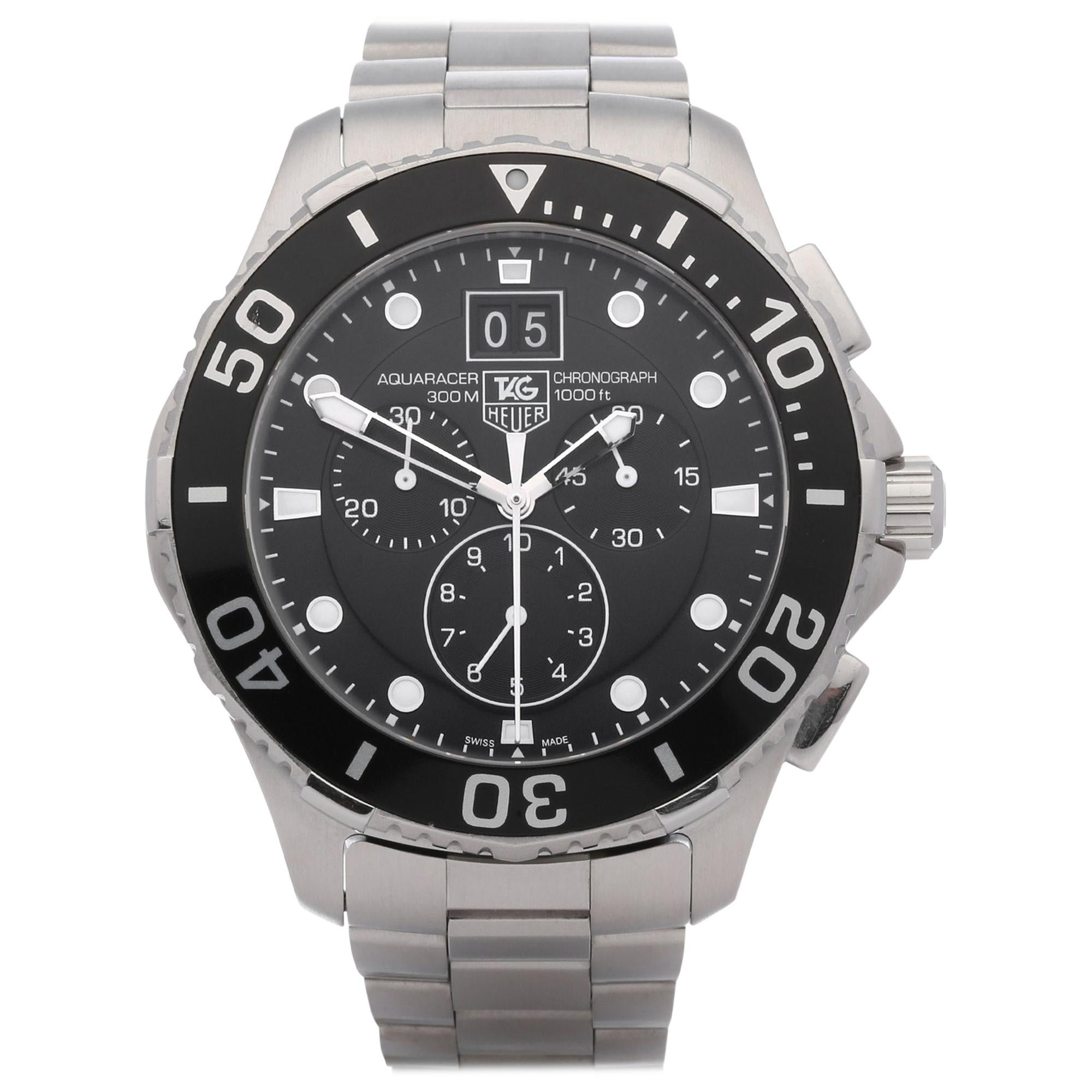 TAG Heuer Aquaracer CAN1010 Men's Stainless Steel 300M Chronograph Watch