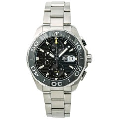 TAG Heuer Aquaracer CAY211A-0 Men's Automatic Watch Black Dial SS