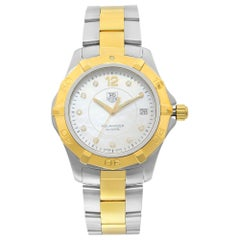 TAG Heuer Aquaracer Diamond White MOP Dial Quartz Men's Watch WAF1124.BB0807