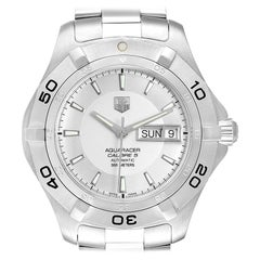 TAG Heuer Aquaracer Silver Dial Steel Men's Watch WAF2011 Box Card