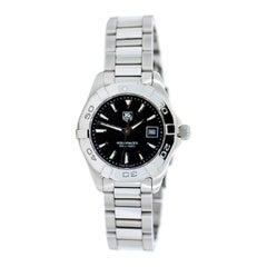 TAG Heuer Aquaracer Stainless Steel Ladies Watch, Black Dial