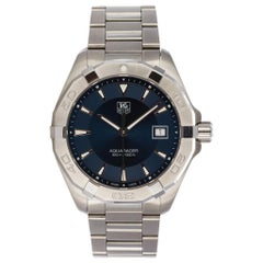TAG Heuer Aquaracer Stainless Steel Quartz Men's Watch WAY1112 Box and Papers