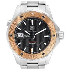 TAG Heuer Aquaracer Steel 18 Karat Rose Gold Men's Watch WAJ2150