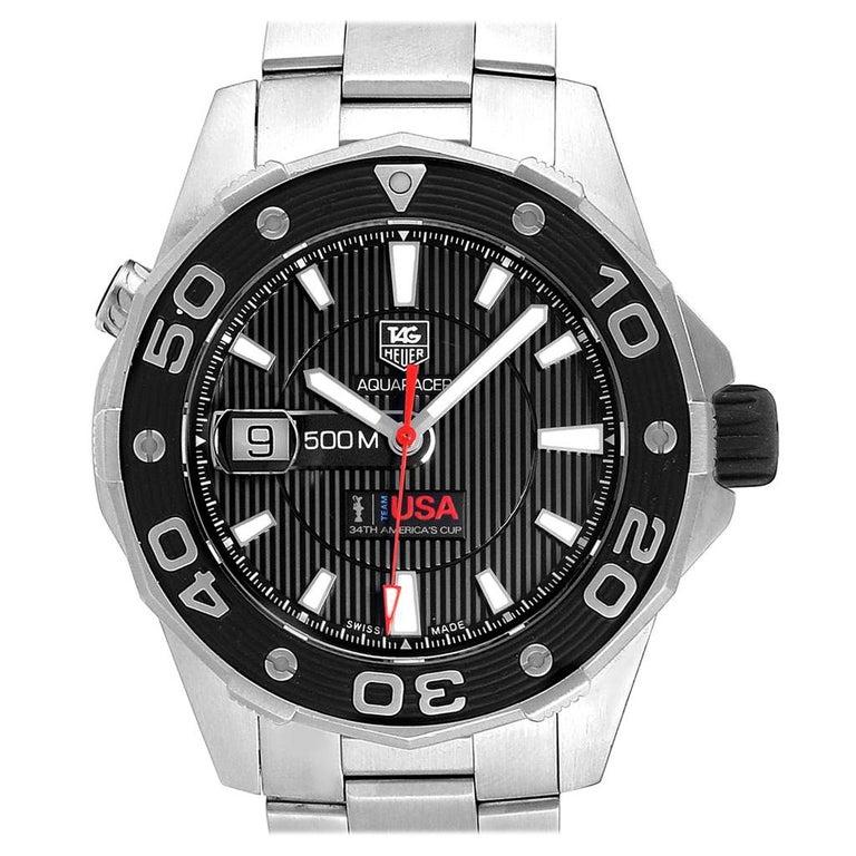 TAG Heuer Aquaracer Steel Rose Gold Men's Watch WAJ2150