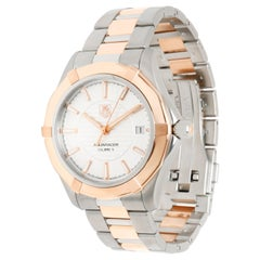 TAG Heuer Aquaracer WAP2150.BD0885 Men's Watch in 18kt Stainless Steel/Rose Gold