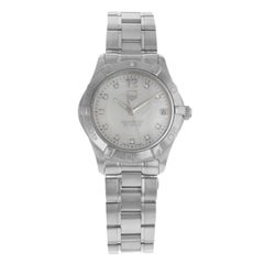 TAG Heuer Aquaracer White Mother-of-Pearl Dial Steel Ladies Watch WAF1312.BA0817