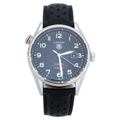 TAG Heuer Black Carrera Drive Time WAR2A10.FC6337 Men's Wristwatch 43 mm
