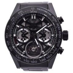 TAG Heuer Black Ceramic Carrera Tourbillion Chronograph Automatic Watch