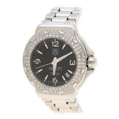 Tag Heuer Black  Diamond Formula 1 WAC1214-0 Women's Wristwatch 35 mm