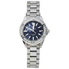Tag Heuer Black Mother of Pearl Diamonds Stainless Steel Women's Wristwatch 35MM