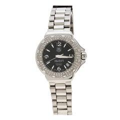 Tag Heuer Black Stainless Steel Diamonds Formula 1 WAC1214-0 Women's Wristwatch