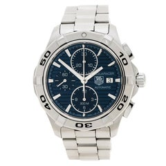 Tag Heuer Blue Stainless Steel Aquaracer CAP2112.BA0833 Men's Wristwatch 42 mm