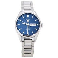 Tag Heuer Blue Stainless Steel Carrera 5 WAR201E.BA0723 Men's Wristwatch 41 mm