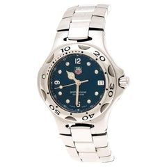 Tag Heuer Blue Stainless Steel Kirium WL1213 Women's Wristwatch 36 mm