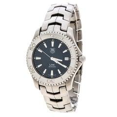Tag Heuer Blue Stainless Steel Link WJ1112-Men's Wristwatch 39 mm