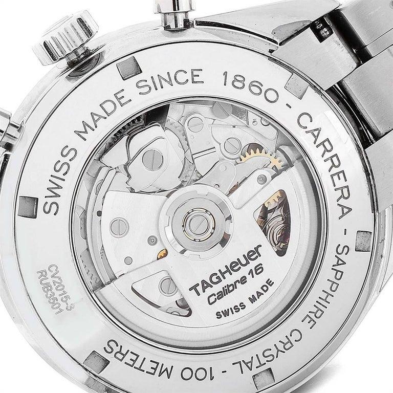 TAG Heuer Carrera 40th Anniversary Legend Men's Watch CV2015 Box Card 3