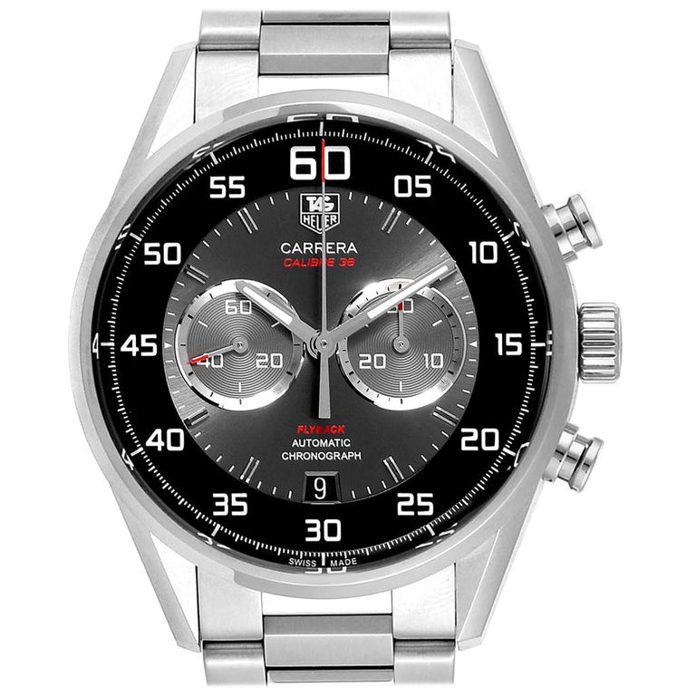 TAG Heuer Carrera Automatic Flyback Steel Men's Watch CAR2B10 For Sale