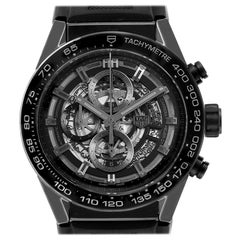 TAG Heuer Carrera Black Ceramic Chronograph Watch CAR2A90 Box Papers