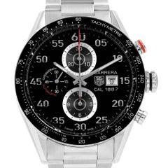 TAG Heuer Carrera Black Dial Chronograph Men's Watch CAR2A10