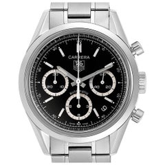 TAG Heuer Carrera Black Dial Chronograph Men's Watch CV2113 Card