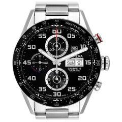 TAG Heuer Carrera Black Dial Chronograph Steel Men's Watch CV2A1R Box Card
