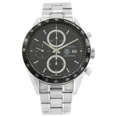 TAG Heuer Carrera Black Dial Stainless Steel Automatic Men's Watch CV2010.BA0794