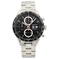 TAG Heuer Carrera Black Dial Tachymetre Steel Automatic Mens Watch CV2014.BA0794