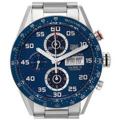 TAG Heuer Carrera Blue Dial Chronograph Steel Men's Watch CV2A1V