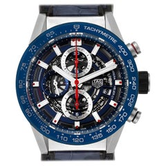 TAG Heuer Carrera Blue Skeleton Dial Chronograph Men's Watch CAR201T