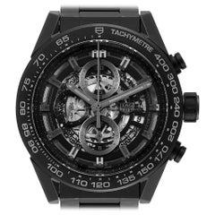 TAG Heuer Carrera Calibre 01 Skeleton Ceramic Watch CAR2A91 Box Card