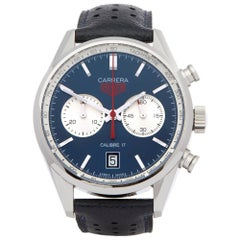 TAG Heuer Carrera Calibre 17 CV211A.FC6335 Men Stainless Steel Chronograph Watch