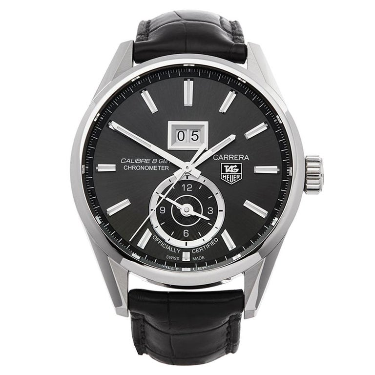 TAG Heuer Carrera Calibre 8 Stainless Steel WAR5012 For Sale