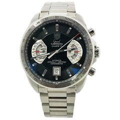 TAG Heuer Carrera CAV511A with Stainless-Steel Bezel and Black Dial