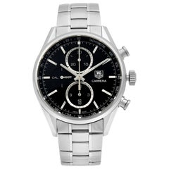 TAG Heuer Carrera Chrono Steel Black Dial Automatic Men's Watch CAR2110.BA0720