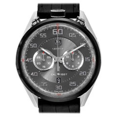 TAG Heuer Carrera Chronograph Gray Dial Men's Watch CAR2C12 Box Card