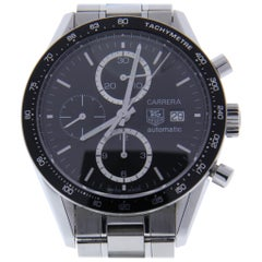 TAG Heuer Carrera CV2010-4 with Band, Ceramic Bezel and Black Dial