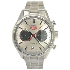 TAG Heuer Carrera CV2119 with Stainless-Steel Bezel and Silver Dial