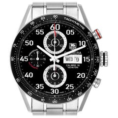 TAG Heuer Carrera Day Date Chronograph Steel Men's Watch CV2A10 Box Card